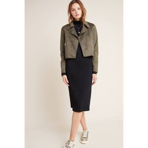 Anthropologie Jackets & Coats - New Anthropologie Kelyn Sueded Moto Jacket